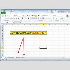 Exceltip2dayshortcut, Trick And Solving Methods [shift] [f11] Excel Shortcut Insert New
