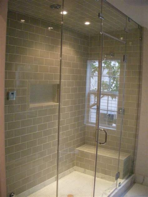 Tilting Bathroom Wall Mirrors by Steam Shower Door
