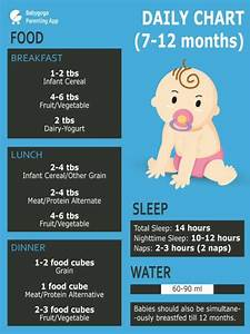 6 Month Diet Chart Healthy Diet Plan For 10 Month Old Baby