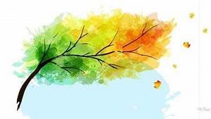 wind blowing trees | Wind Blowing Tree - color, fall, tree ...