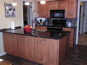 Lovely mismatched kitchen cabinets contemporary with two for Kitchen cabinets lowes with kansas city wall art