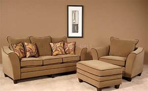 walnut fabric modern sofa chair set w options With sofa bed and chair set