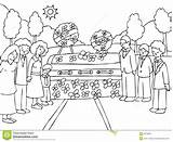 Funeral Event Cartoon Crying Mourning Arrangements Memorial Outside sketch template