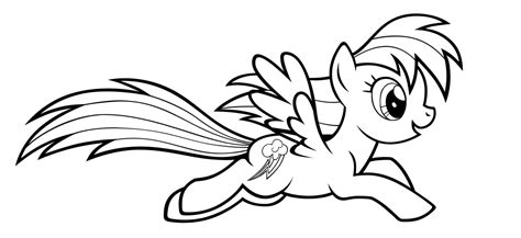 rainbow dash coloring pages  print coloring home
