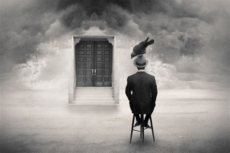reality rearranged black  white surrealist photography