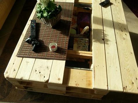 lift top coffee table   pallets
