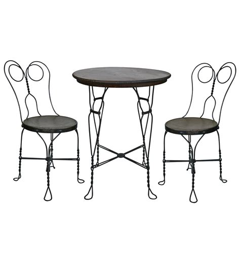 ice cream parlor table twisted wire ice cream parlor set w table and two chairs