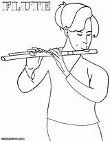 Flute Coloring Colorings sketch template