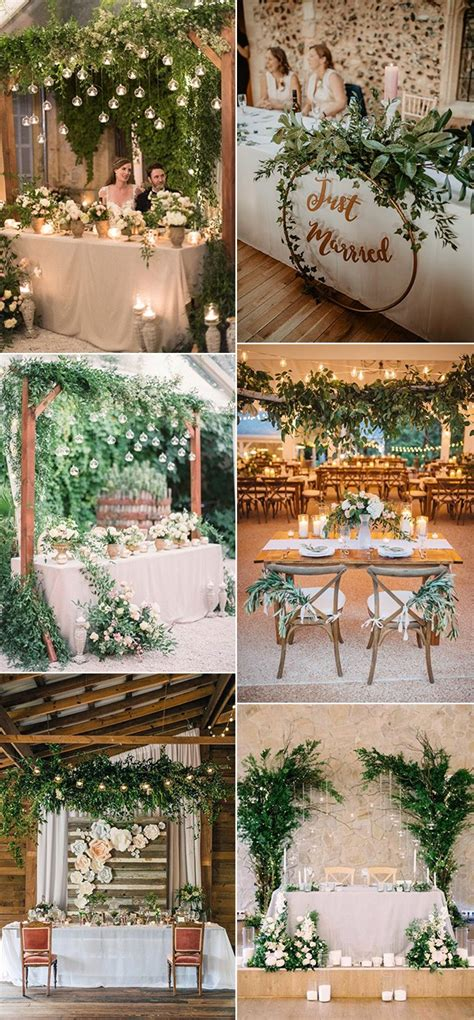 romantic wedding sweetheart table decoration ideas with