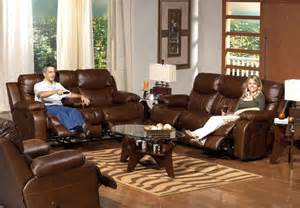 catnapper dallas top grain leather touch reclining sofa