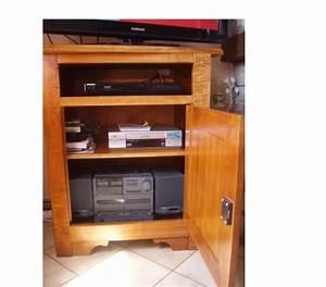 Meuble Tv Hifi : meuble tv hifi merisier offres novembre clasf ~ Teatrodelosmanantiales.com Idées de Décoration