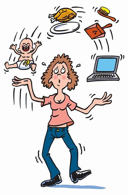 Juggling Mom Clipart Business Working Too Much
