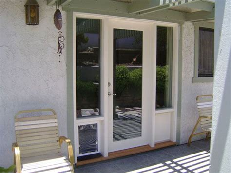 patio door with pet door built in barn and patio doors