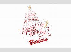 Barbara Happy Birthday Vector Cake Name PNG