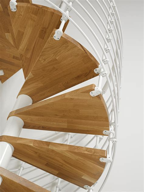 oakxtra metal steel  wood spiral staircase fontanot
