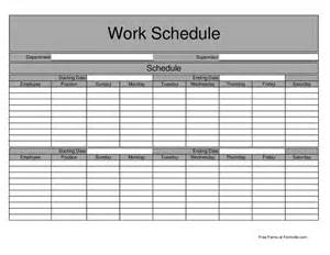 Biweekly Employee Work Schedule Template