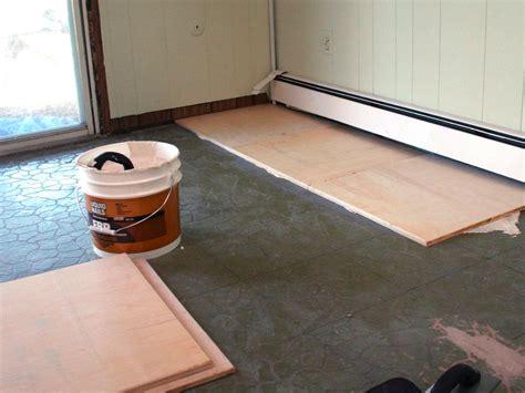 install plywood floor tiles hgtv
