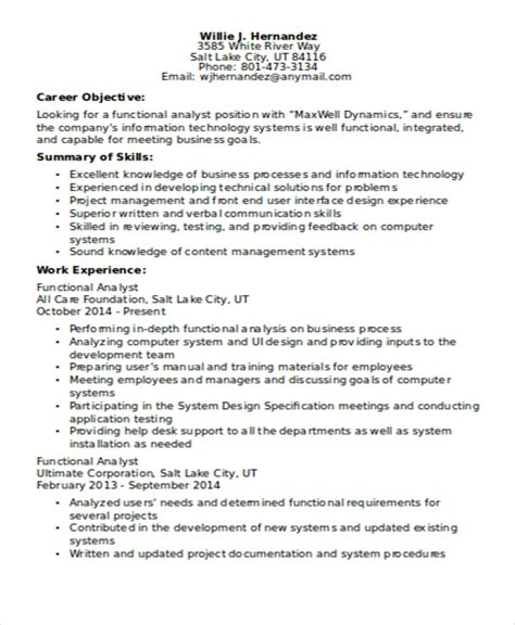 Functional Cv by 10 Functional Curriculum Vitae Templates Pdf Doc