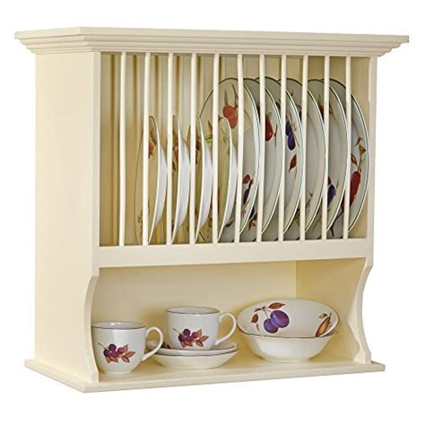 wooden wall mounted plate rack traditional buttermilk classic  country kitchen search furniture
