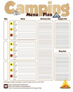 step by step camp menu planning chuck wagoneer With camping menu planner template