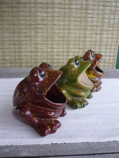 frog kitchen accessories reserved for vintage ceramic sink frog retro 70 s 1112