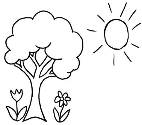 terkini 39 gambar mewarnai pohon bunga