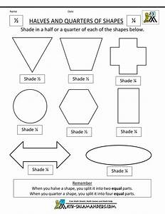 Halves And Fourths Worksheets