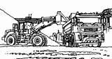 Coloring Tractor Digger Vtn Working Colorluna sketch template