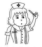 Nurse Coloring Pages Community Helpers Printable Momjunction sketch template