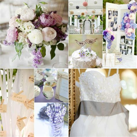 Purple Shabby chic party Shabby chic wedding table