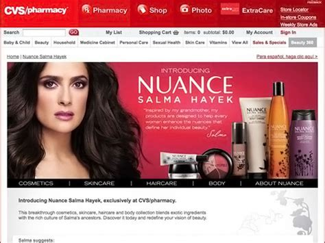 Salma Hayek teams with CVS for Nuance beauty line ...