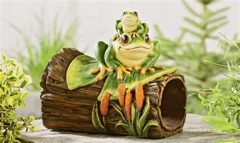 Frog On A Log Rain Spout Cover- Garden Decor Low Price Living Room Furniture Sets Rooms To Go Tables Wooden Sofa Designs For Small Area Rugs Size Black Set Leather Decorative Pieces Live In Caregiver And Board