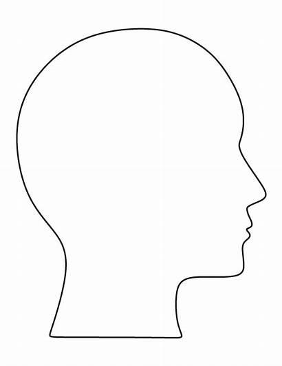 Head Outline Blank Human Templates Pattern Printable