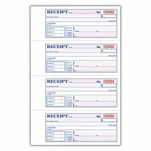 adams carbonless moneyrent receipt book 3 part 7 58 x 11 With adams carbonless invoice books