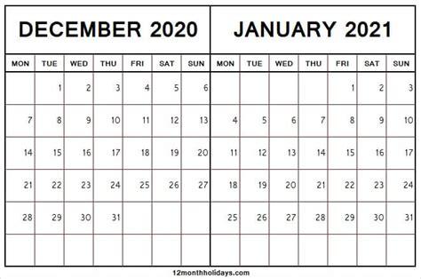 december  january  calendar editable template
