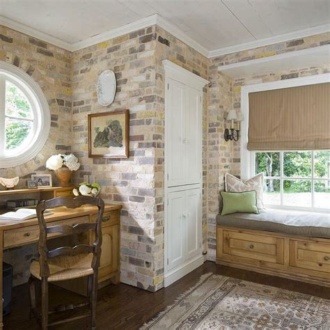 brick wall office trendy textural beauty 25 home offices with brick walls