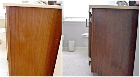 Antique Walnut Bathroom Vanity Makeover   General Finishes