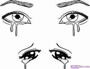 How to Draw Crying Eyes, Step by Step, Eyes, People, FREE ...