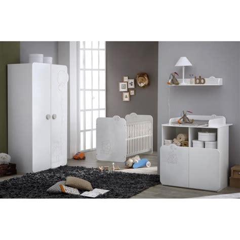 chambre bébé complète teddy chambre bébé complète coloris blanc et blanc velours