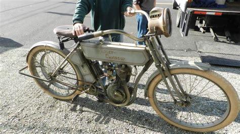 Amazing 1910 Harley-davidson Motorcycle, Single Belt, Gray