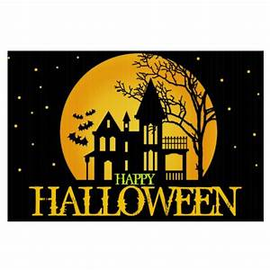 Spooky House Happy Halloween Signs | Zazzle