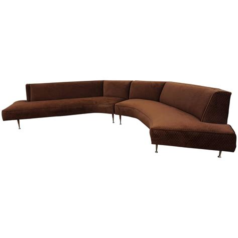 two piece sectional sofa gorgeous harvey probber style two piece curved sofa