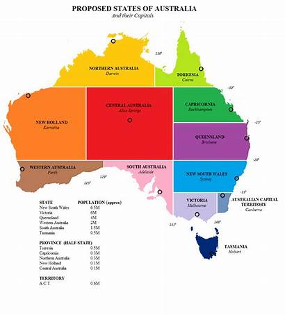Australia States Map Proposed Capitals Maps History