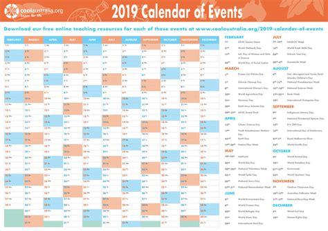 calendar cool australia