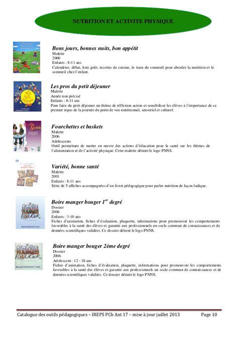 cuisine de fred ireps17 catalogue outils pédagogiques antenne 17