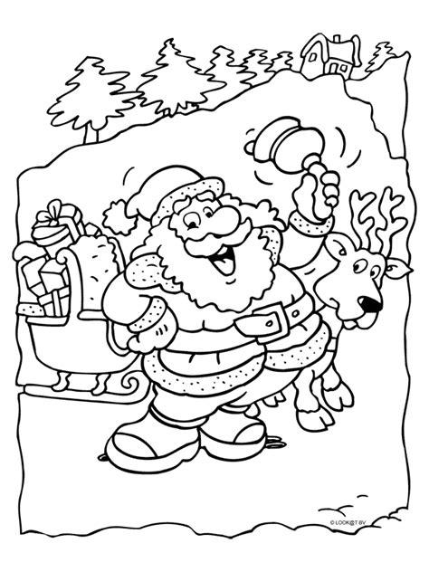 Kleurplaat Arreslee by Kleurplaat Aardige Kerstman Met Slee Kleurplaten Nl