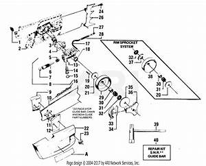 Poulan 4400 Gas Saw Parts Diagram For Clutch  U0026 Oil Pump