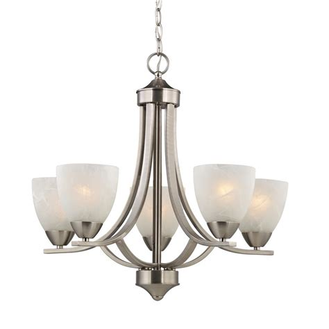 Glass Shades For Chandelier by Satin Nickel Chandelier With Alabaster Glass Shades 222
