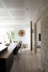 Mur Pierre Apparente : cuisine avec parquet deco scandinave picslovin ~ Premium-room.com Idées de Décoration