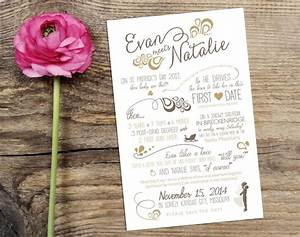 wedding love story timeline save the date design with With timeline for wedding invitations and save the dates